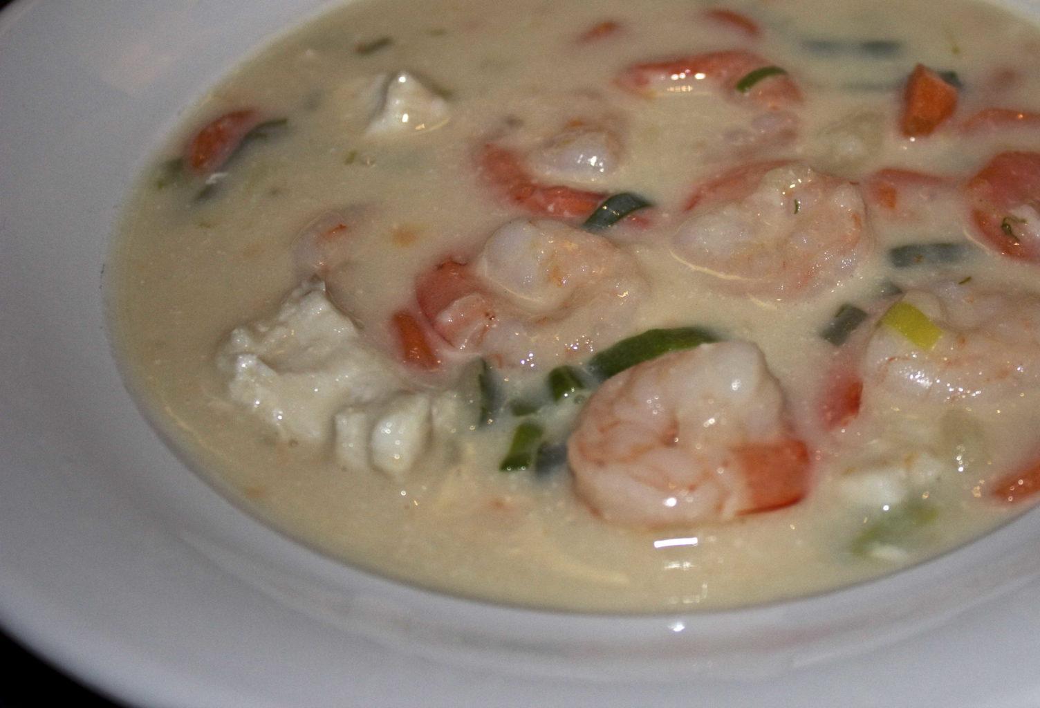 laktosefri fiskesuppe