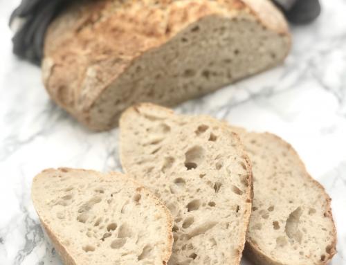 Surdeigsbrød av spelt, fra starter til lavFODMAP-brød, steg for steg