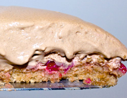 Glutenfri og laktosefri sjokoladekake med sjokolademousse og bær