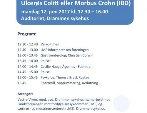 Invitasjon til foredrag på Drammen sykehus